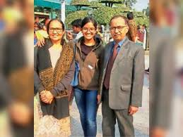 Divya Shakti with her parents