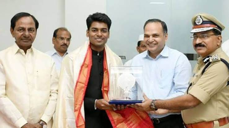 Anudeep Durishetty taken award