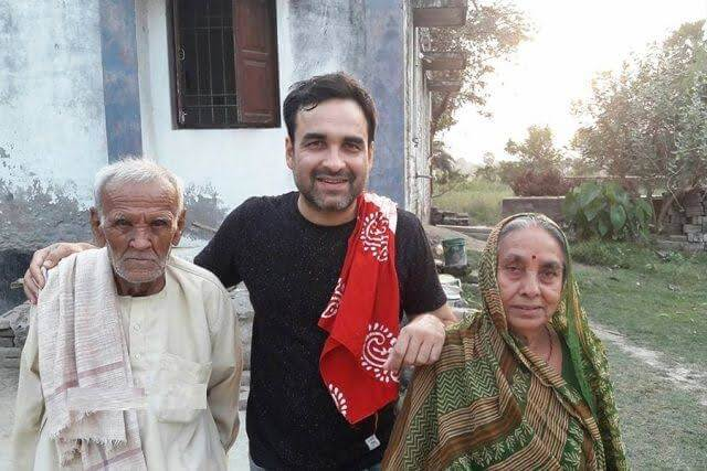 Punkaj tripathi in his village