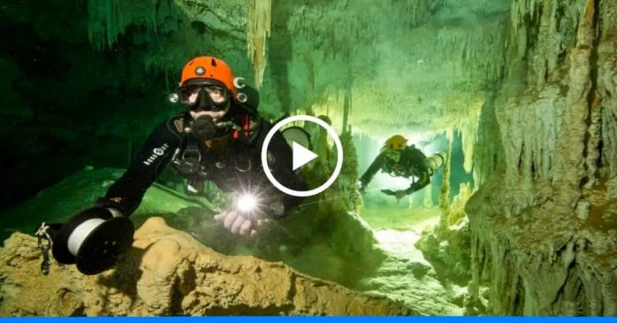 Divers discover world's largest underwater cave