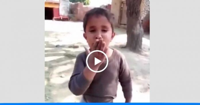 viral video song of small child