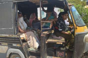 Poonam Meshram is driving auto for giving financial help to her father
