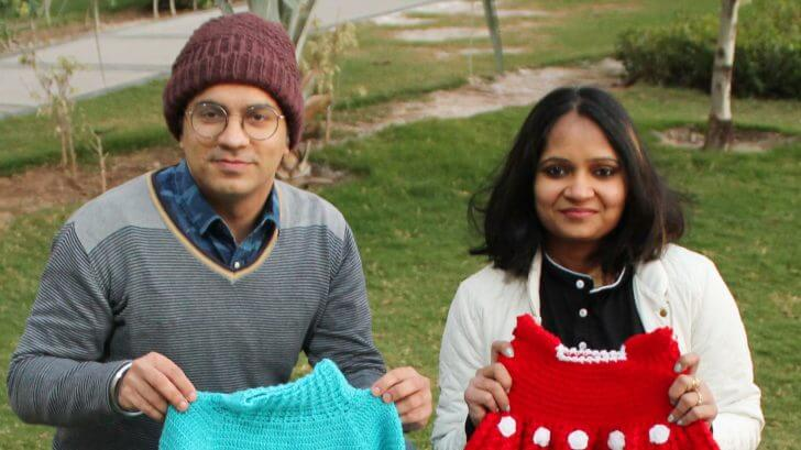 Sonipat based Mother starts startup Ajooba and making money through knitting sweaters