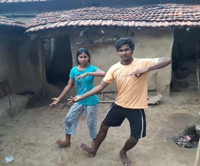 dancer sanatan mahto and his sister savitri from Dhanbad are earning lakhs through dancing videos