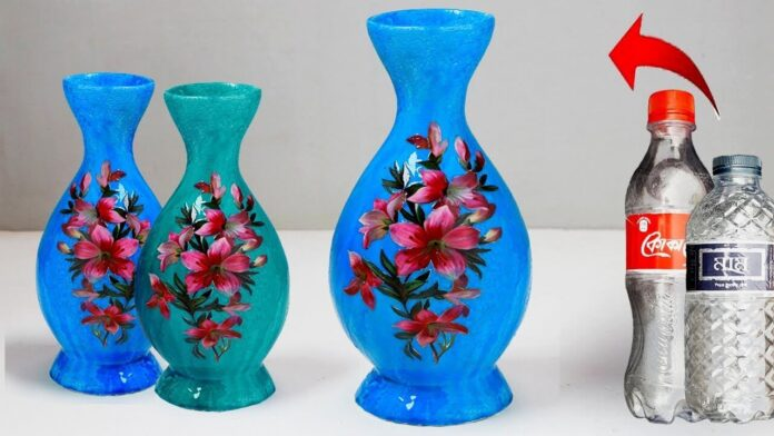 Recycle plastic bottles to make beautiful pots