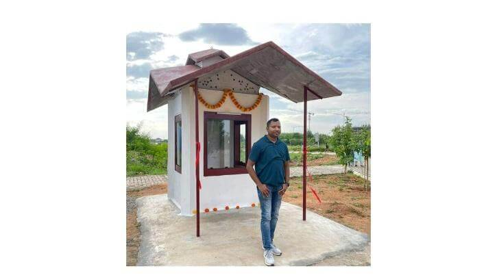 IIT Hyderabad makes bio building from straw and wastes of field